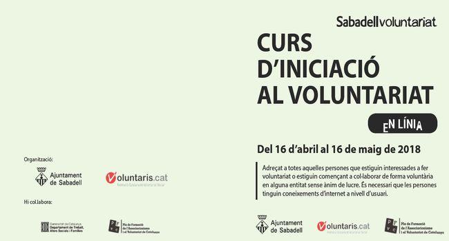 Inscripcions obertes per a la primera edició en línia d'un curs d'iniciació al  voluntariat
