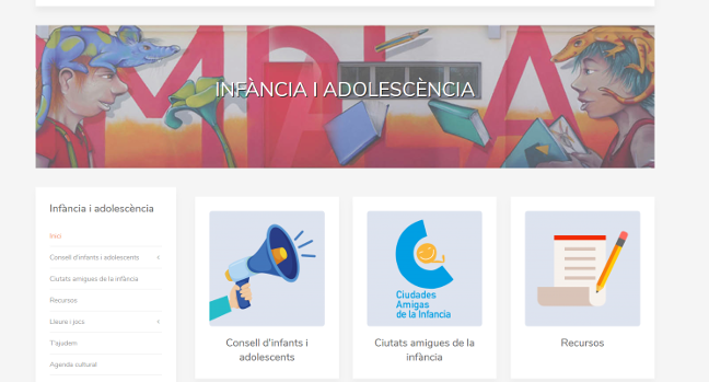 Nou web municipal per a infants i adolescents