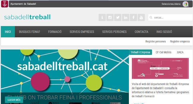 El portal de feina sabadelltreball.cat publica anualment més de 1.000 ofertes laborals